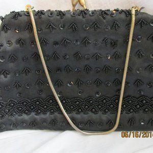 Vintage Evening Clutch Size Handbag Beads Sequins